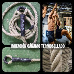 Cuerda IMITACION DE CAÑAMO trepa 26mm gaza + termosellado - EXTERIORES