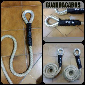 Cuerda cañamo trepa 26mm gaza + guardacabos