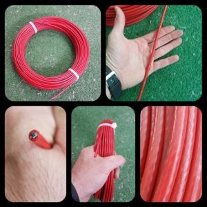 CABLE ACERO GALVANIZADO PLASTIFICADO SIRGA 6MM ROJO